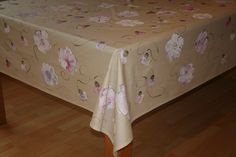 Hand painted by Dana. Lilac, pink and white Poppies on a creamy gold background. www.dmgdesigns.co.za. Wipe clean.