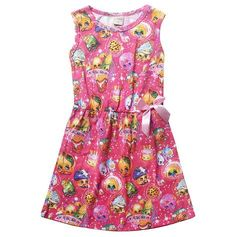 Shopkins+Sparkle+Dress+{Pink}  Perfect+for+everyday+wear+and+a+Shopkins+theme+birthday+party!  Please+allow+up+to+3+weeks+for+shipping!  ♥♥♥+LIKE+MY+FACEBOOK+PAGE+AND+TAKE+10%+OFF+YOUR+ORDER!+♥♥♥ Just+message+me+on+Facebook+to+let+me+know+you're+a+Fan+and+I'll+send+you+a+special+coupon+cod...