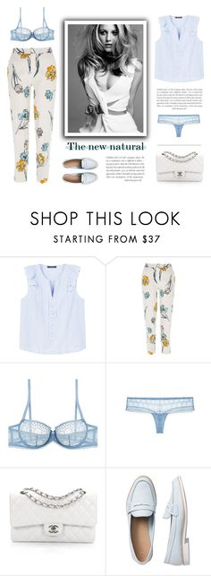 """Natural blue"" by little-vogue ❤ liked on Polyvore featuring MANGO, River Island, Princesse tam.tam, Chanel, Gap, natural, fashionset and polyvoreset"