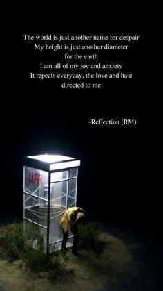 Reflection (RM, BTS) lyrics wallpaper