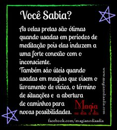 Magia no Dia a Dia: Vela Preta Witch Spell, Pagan Witch, Wicca Witchcraft, Magick, Brighid Goddess, Baby Witch, Natural Life, Coven, Book Of Shadows