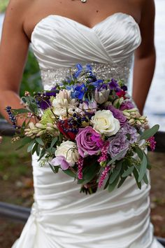Pink and Purple Bridal Bouquet - PHOTO SOURCE • KATE CRABTREE PHOTOGRAPHY