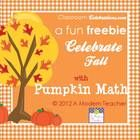 A little fun freebie booklet to put out for your math pumpkin stations.  Free