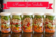 The P.J. Salavge team loves to pack mason jar meals to work! Here is one of our favorites! Yummy Salads in a jar!  #masonjarmeals #masonjar Creating Tasty Mason Jar Salads | Hellobee