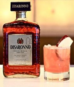 DISARONNO Apple Cobbler Ingredients: 2 ounce DISARONNO® 1 ounce whole berry cranberry juice not from concentrate/no sugar added 3/4 ounce fresh unfiltered/unpasturized apple juice 1/4 ounce fresh lemon juice 2 dashes Peychauds bitters 1 red apple, sliced for garnish Directions: Combine all ingredients in shaker, shake vigorously with ice. Fine strain into cocktail glass.