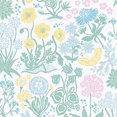 Sandberg Lotte White Wallpaper - Tea and Kate - sandberg - 2