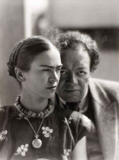 Frida Kahlo and Diego Rivera, Mexico 1933. by Martin Munkácsi
