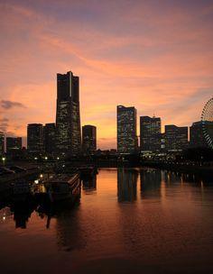 みなとみらい サンセット sunset 夕焼け 景色 横浜
