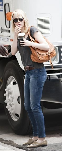 Emma Stone's casual style
