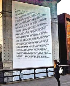 """""""I want a president"""" is a poem written by artist Zoe Leonard in 1992. Zoe Leonard (born 1961) is an American artist who works primarily with photography and sculpture."""