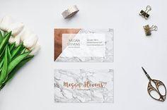 Marble Copper Business Card / Rose Gold Business di AYAKAstudio