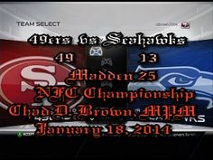 Madden25 49ers vs Seahawks NFC Championship Simulation Predict 24-6 49ers!!