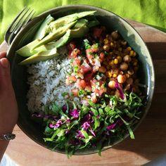 Yummy veggie bowl