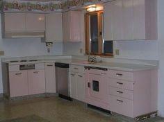 Powder pink kitchen beauty