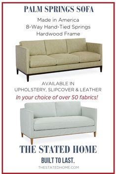 Modern Sofa Gets It S Inspiration From Mid Century Style But Is Updated For Today