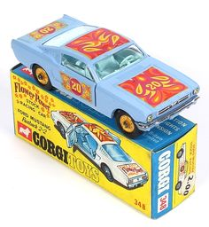 Ford Mustang Stock Racing Car - very scarce find with gold wheels
