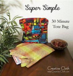 Super Simple Thirty Minute Tote Bag Tutorial