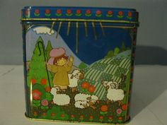 cute with sheep angels flowers, nice bright colors vintage Hallmark