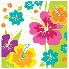 Floral Delight 2 Ply Beverage Napkins Big Value/Case of 1200