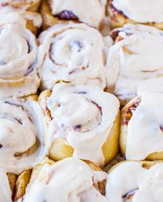 Overnight Buttermilk Soft & Fluffy Cinnamon Rolls - no need to get up at 5am to start them! Recipe at averiecooks.com