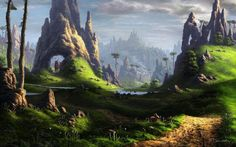Scenery Landscape Digital Art works Feliks painting beautiful awesome matte painting