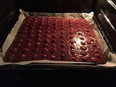 Schneller Blechkuchen Schoko - Kirsch
