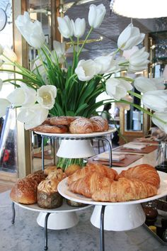 cozy cafes full of good smells - and fresh flowers.