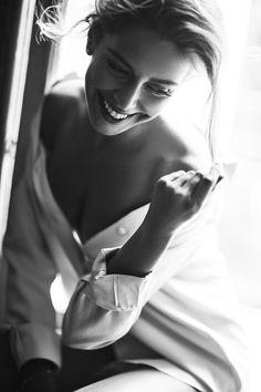 Black and white portrait photography ~ white shirts.