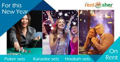 Celebrate #NewYear Eve with your special ones and welcome New Year grandly with RentSher's New Year Special rentals like #Projectors with Screen, #Beanbags, #Barbecue Grill, Speaker sets, Music & Sound system, #Decoration & #Lightings, #Karaoke Sets, #PartyProps, #GamingConsoles and many more at affordable prices with Home delivery & Pickup #Bangalore, #Delhi. Visit us today for more details: http://www.rentsher.com/xmas