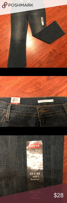 👖👖NWT 524 Levi's Bootcut jeans👖👖 Brand NWT never been worn Levi's 524. Cotton polyester and elastane blend.  Bootcut to fit those favorite pair of boots you have comfortably. Low rise and slim through the hip and thigh. Great pair of new jeans.  Smoke free home.  Check out my other listings for a bundled discount discount! Levi's Jeans Boot Cut