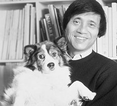Tadao Ando with his dog Le Corbusier