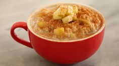Apple Pie Oatmeal in a Mug - Microwave Mug Breakfast