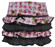 Hell Bunny St Tropez Cherry Check Tartan Pink Black Summer Mini Skirt Small UK 8: Amazon.co.uk: Clothing