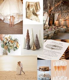 Celebratory Gold Wedding- would be perfect for a winter wedding