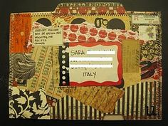 #mail art ... file envelope to Sara ... from Shelley Malone