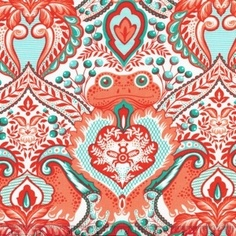 Frog Prince fabric by Tula Pink for Free Spirit, so funny!  #SephoraColorWash