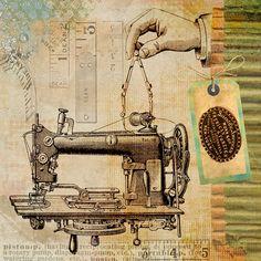 Szycia, Vintage, Maszyny, Steampunk, Wynalazku, Patentu