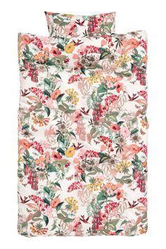 Komplet pościeli w kwiaty - Biały/Kwiaty - HOME | H&M PL 2