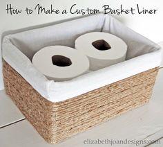 How to Make a Custom Basket Liner