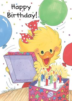 cake n a box Happy Birthday Kind, Art Birthday, Happy Birthday Images, Birthday Pictures, It's Your Birthday, Birthday Cards, Suzy, Creative Party Ideas, Cute Clipart