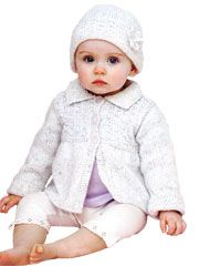 Girls Coat and Hat Knit Pattern from Anniescatalog.com -- This knit pattern is soft and snuggly!