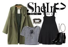 """""""Shein: Suspender black dress"""" by fashion-nova ❤ liked on Polyvore featuring WithChic, Sirius, Kenneth Cole and Dana Buchman"""