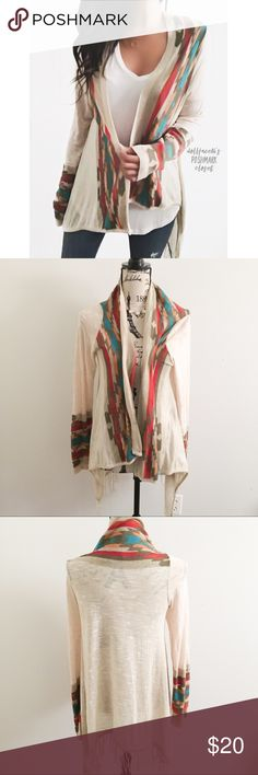 "Southwestern Style Fringe Open Cardigan ✦ By New directions by Belk✦{I am not a professional photographer, actual color of item may vary ➾slightly from pics}  ❥chest:20.5"" ❥waist:18.5"" ❥length:29.5"" ❥sleeves:26.5"" ➳acrylic+rayon/hand wash  ➳fit:in my opinion true, a light knit open cardigan style ➳condition:gently used   ✦20% off bundles of 3/more items ✦No Trades  ✦NO HOLDS ✦No lowball offers/sales are final  ✦‼️BE A RESPONSIBLE BUYER PLS ASK QUESTIONS/USE MEASUREMENTS TO MAKE SURE THIS…"