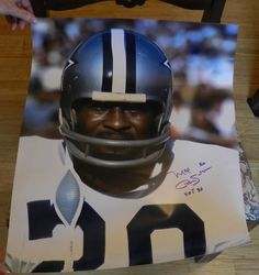 Mel  Renfro Autograph Dallas Cowboys  Post/ Picture HOF  1996 #DallasCowboys $25.00 OBO + $4.50 Shipping