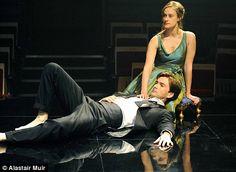 David Tennant as Hamlet alongside Mariah Gale's Ophelia