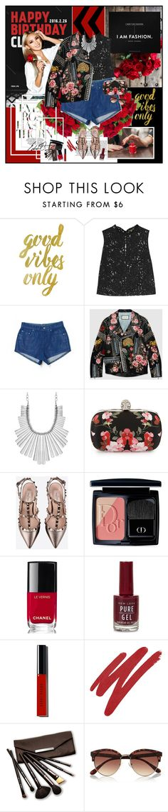 """""""Chapter 13: Trap Queen"""" by summervintage ❤ liked on Polyvore featuring Yves Saint Laurent, Carmar, Gucci, Lucky Brand, Alexander McQueen, Valentino, Christian Dior, Chanel, New Look and Bobbi Brown Cosmetics"""