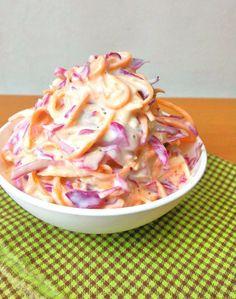 Coleslaw (salada agridoce de repolho e cenoura) - COZINHANDO PARA 2 OU 1