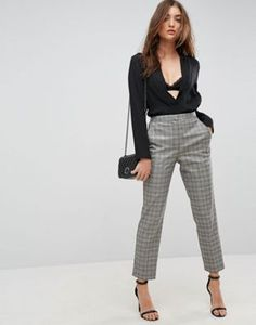 ASOS Tailored Slim Houndstooth Check Trouser