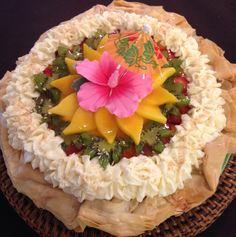 Mango Crepe Pie, INGREDIENTS: Coconut Almond Crust with Phyllo edge ...