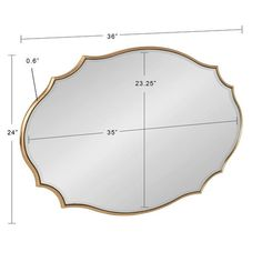 Shop Kate and Laurel Leanna Scalloped Oval Wall Mirror - Gold - 24x36 - Overstock - 31288732 Gold Mirror Bathroom, Wall Mirror, Mirror Shapes, Mirrors Wayfair, White Mirror, Room Dimensions, Small Space Living, Beveled Glass, Large Furniture